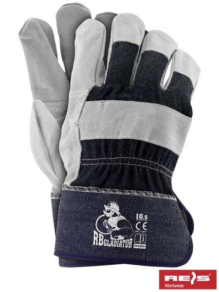 759fb140 Rękawice ochronne robocze wzmacniane skórą dwoina RBGLADIATOR r.10,5 -  Nasze produkty